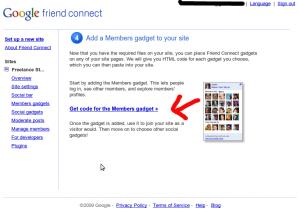 GoogleFriendConnect - Get Member Gadget Code