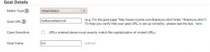 Analytics Goal Details